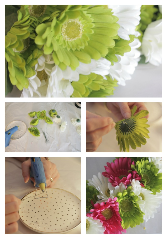 how to make a spring floral wreath