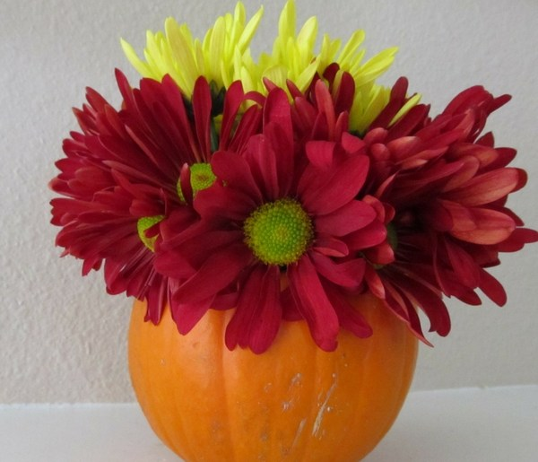 how to make a pumpkin vase