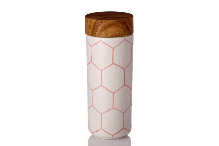 The-Geometric-Tumbler-Hand-Painted-Orange-Line-with-White-Glaze