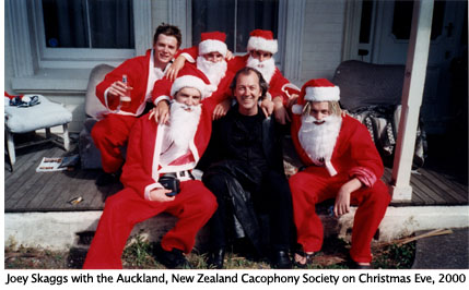 Joey Skaggs with New Zealand Cacophony Society, 2000
