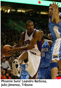 Phoenix Suns' Leandro Barbosa, by Julio Jimenez, Tribune