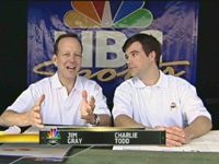 Jim Gray and Charlie Todd do color commentary for the Best Game Ever