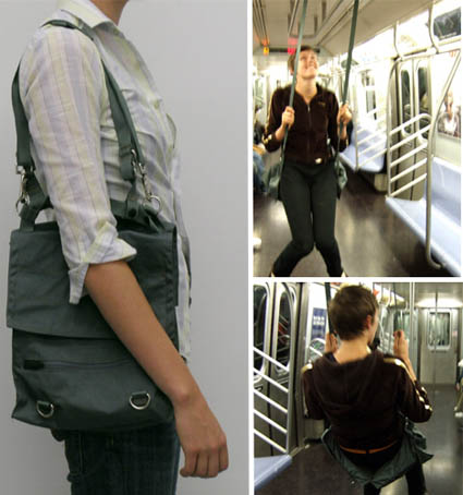 Caroline Woolard Subway Swing Disguised as a Bag