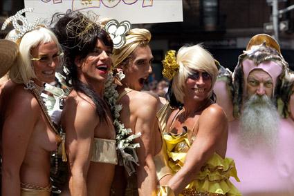 Bigfoot spotted at NYC Gay Pride Parade