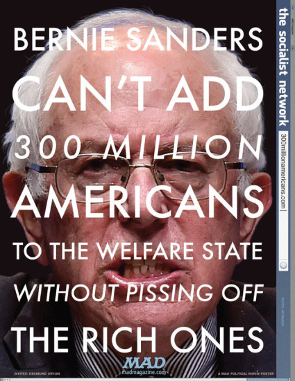 Mad magazine's Bernie Sanders poster