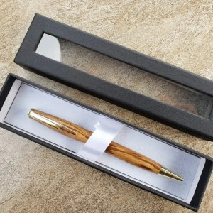 Pen Gift Box - Black Pen Box With Clear Window On Front