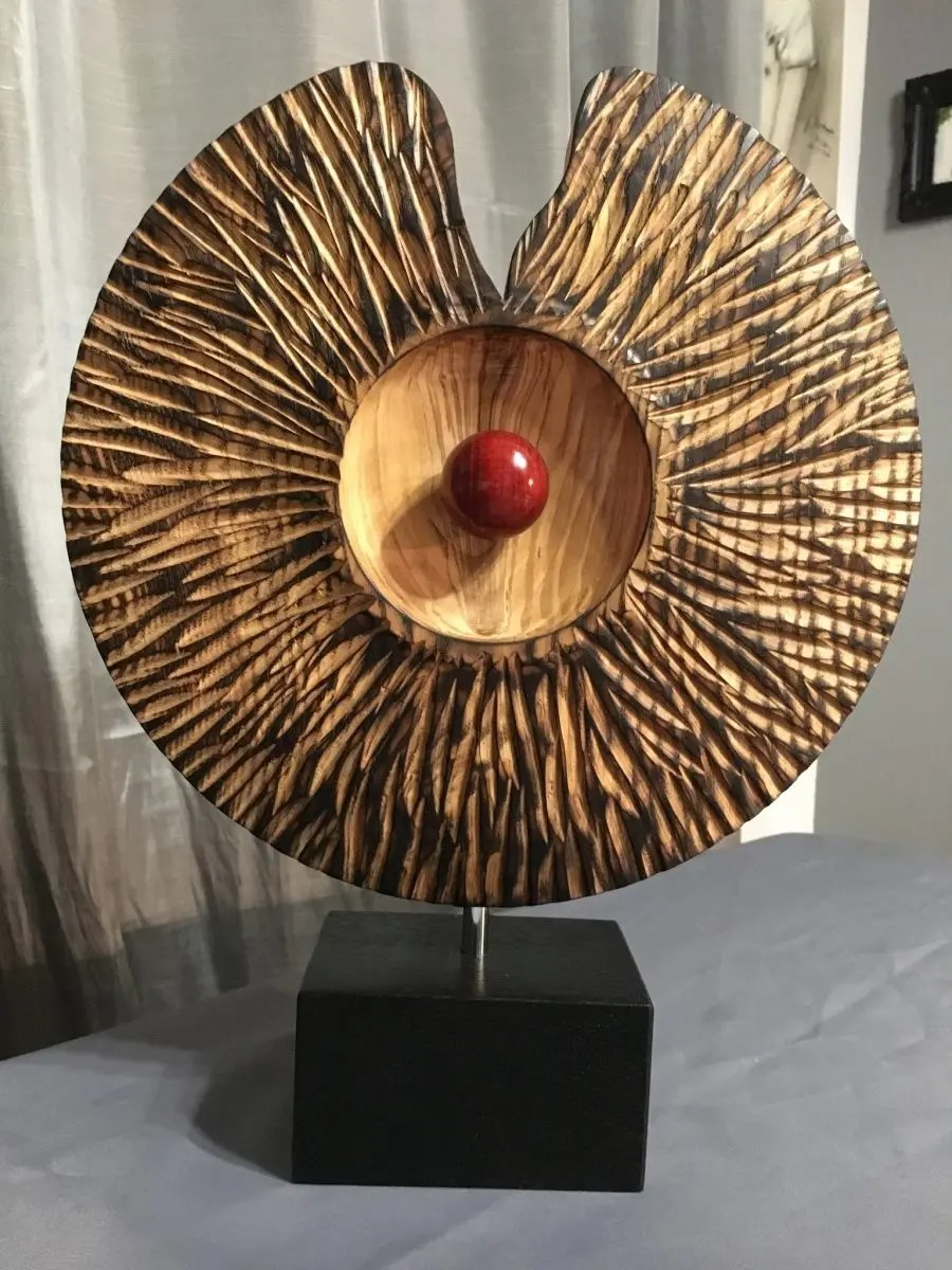 Platter wood turned art
