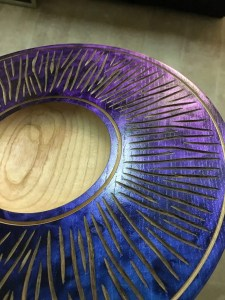 Colored woodturning
