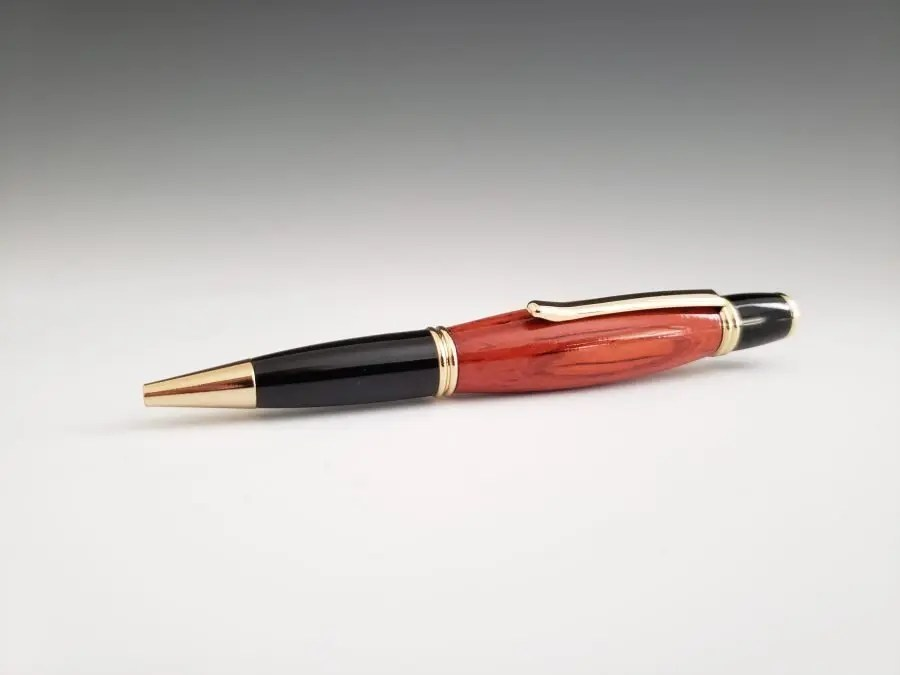 Handmade padauk executive pen