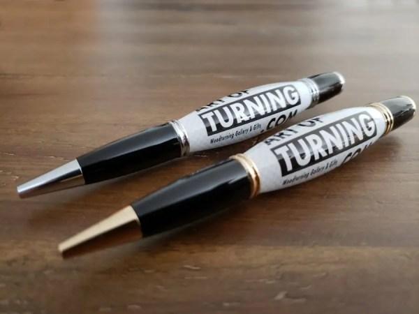 Custom business pens, handmade company logo pens.