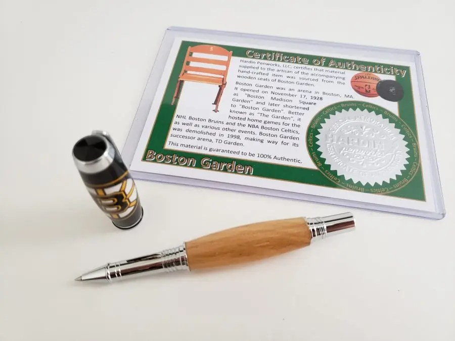 Bruins Fan Gift Idea - Boston Bruins Wood Boston Garden Pen