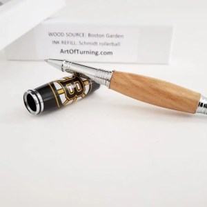 Boston Garden wooden pen with Bruins logo