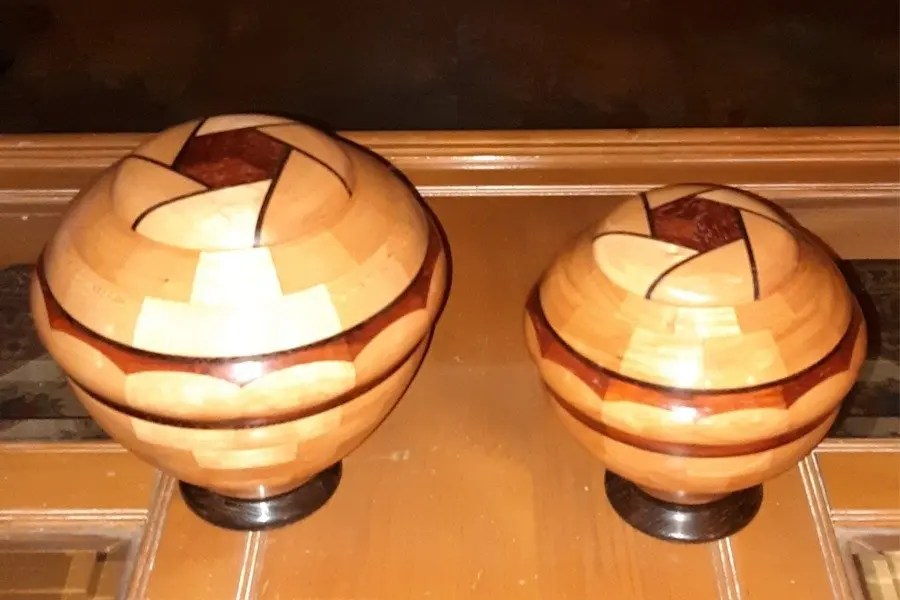 His And Hers Cherry Urns