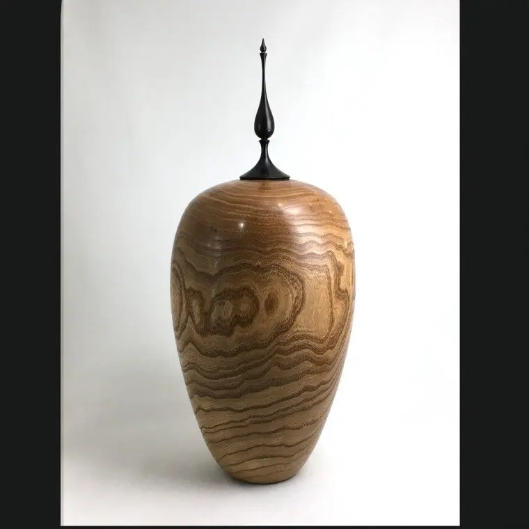 Mimosa Vase With Finial - Woodturning
