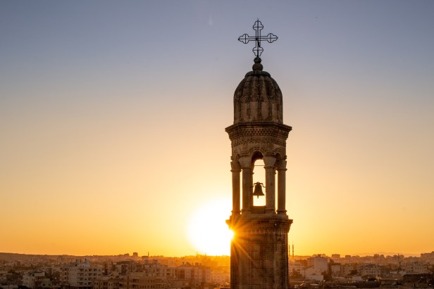 Midyat Syriac Steeple Sunset