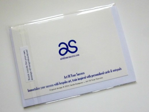 AOYS back of packaged card