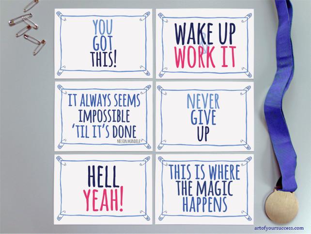 Inspirational postcard set