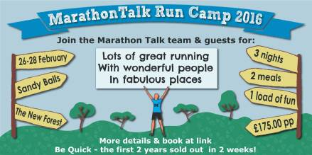 Run Camp flyer for MarathonTalk running camp