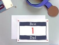 Best Number 1 Dad card