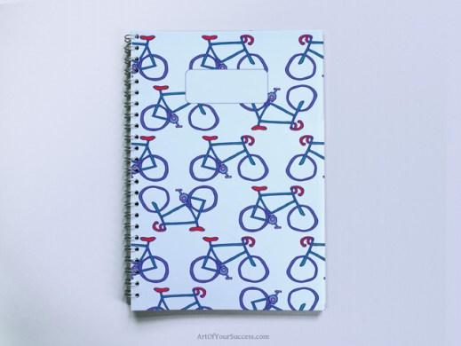 Bikes Spiral Notebook