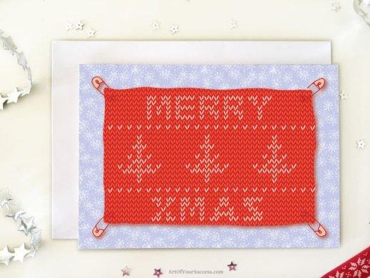 Christmas card for runner triathlete