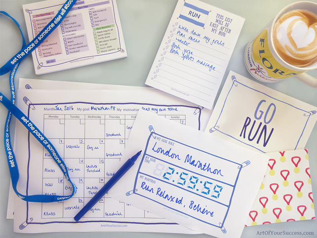 Plans and checklists for runners