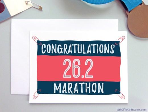 Marathon Congratulations card for runner