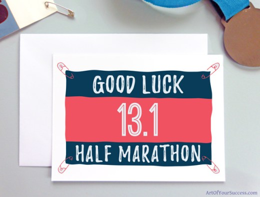 Half Marathon Good Luck card for runner
