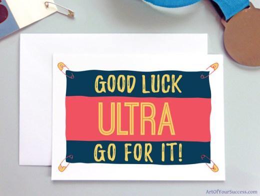 Ultra Good Luck card for runner