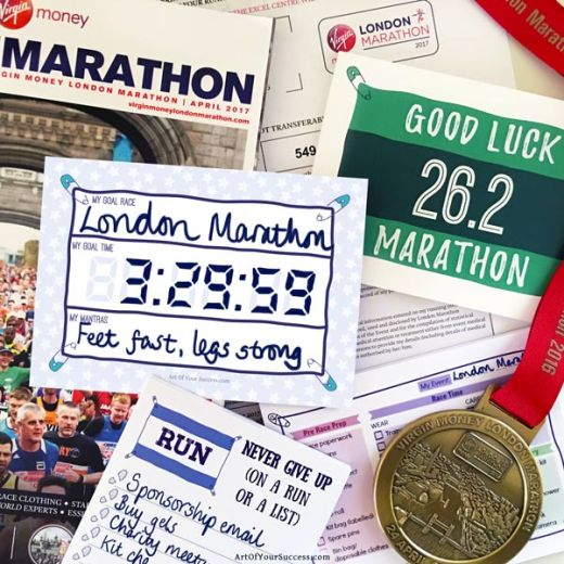London marathon lists