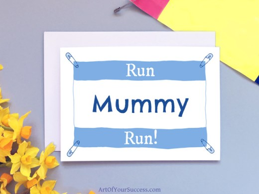 Run Mummy Run Card
