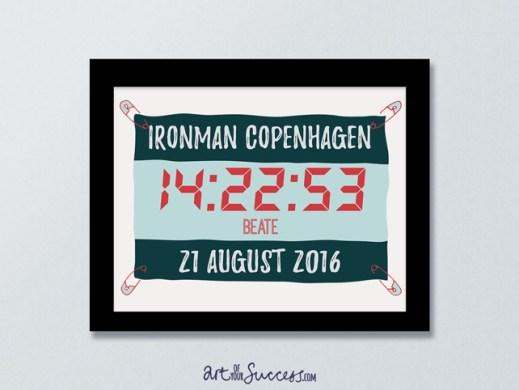 Ironman finish time personalised print