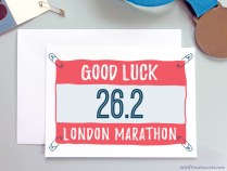 London Marathon Good Luck Running Card