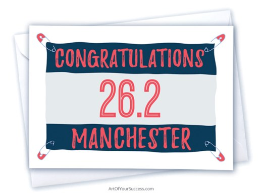Congratulations Manchester Marathon card