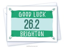 Good Luck Brighton Marathon card