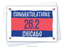 Congratulations Chicago marathon card