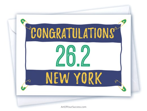 Congratulations New York marathon card