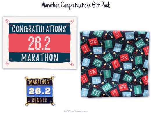 Marathon congratulations gift pac