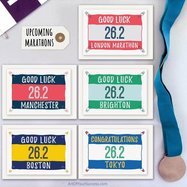Marathon Good Luck Card