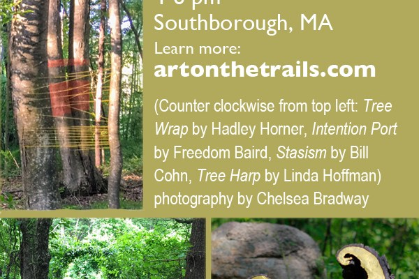 Art on the Trails 2017: Poetry Walk and Closing Ceremony to celebrate art, poetry, nature and community this Sunday, September 24th, 4-6pm at Beals Preserve