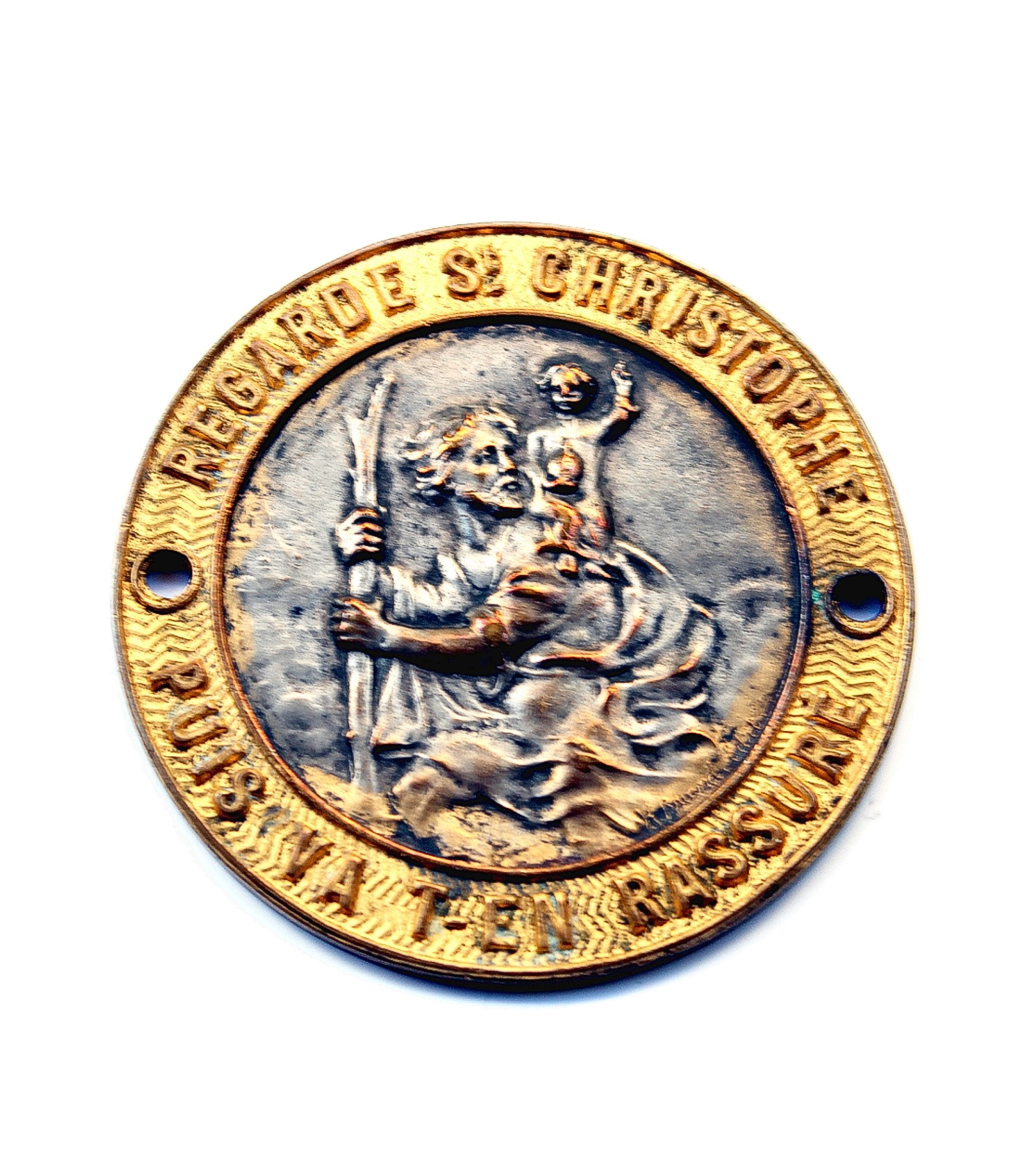 Round St.Christopher badge by Briand