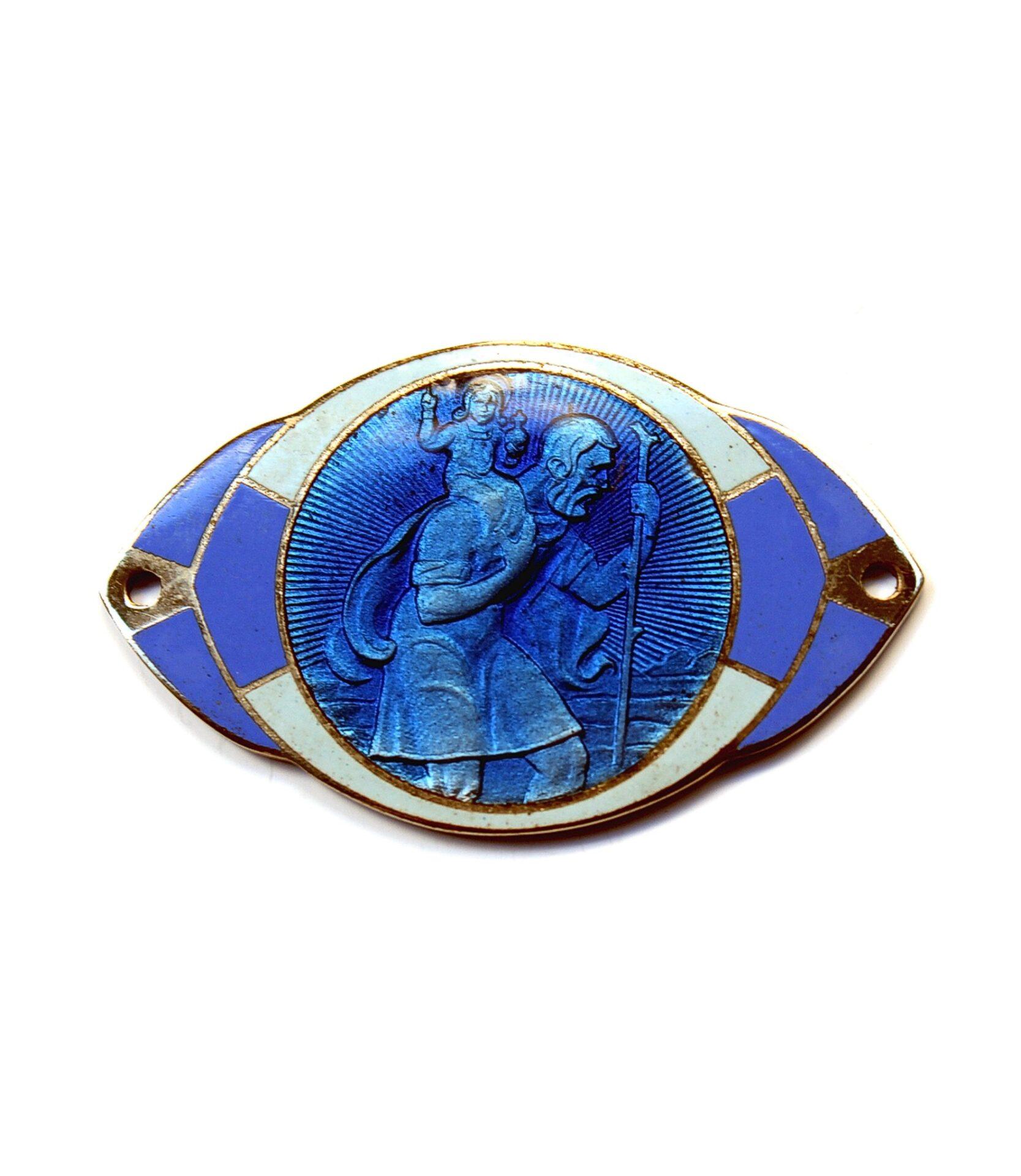Enameled St.Christopher badge for sale