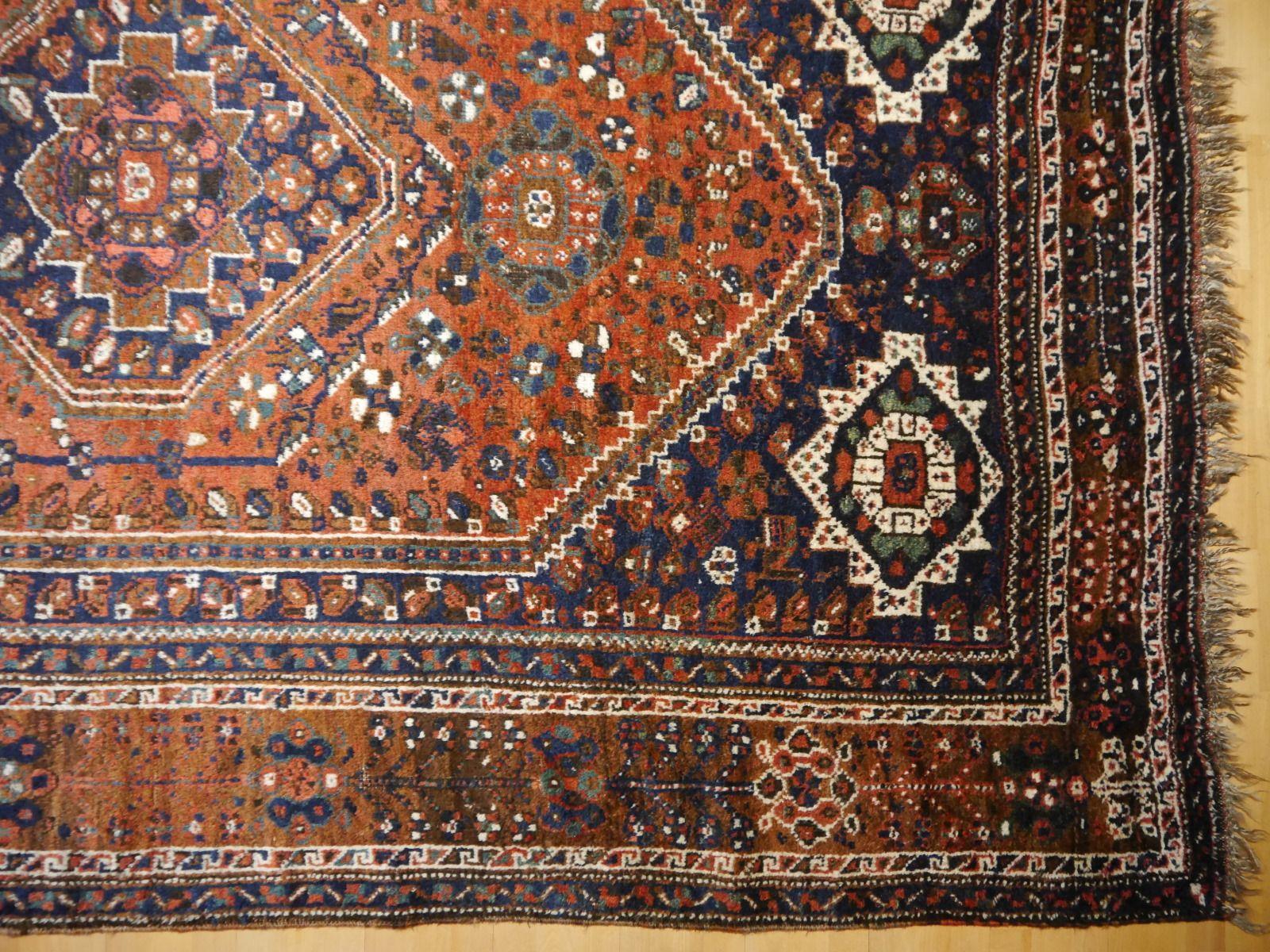 Antique Qashqai Kashkooli Tribal Persian Rug