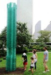 Tectonics of Transparency: The Tower by Christina Parreño Architecture: 17-foot high landmark constructed from 350 custom-fabricated glass blocks.