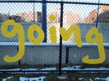 Matthew Hoffman's art on Greenway fence