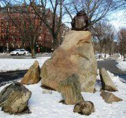 Jemcks designed the naturalistic setting and the bronze statue.