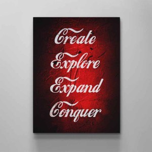 create explore expand conquer canvas art by artoxic studio