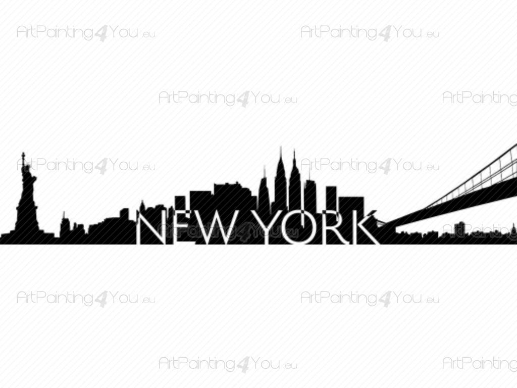 Le migliori occasioni per adesivi murali, stickers, trompe l'oeil. Adesivi Murali Skyline Di New York Vdv1041it