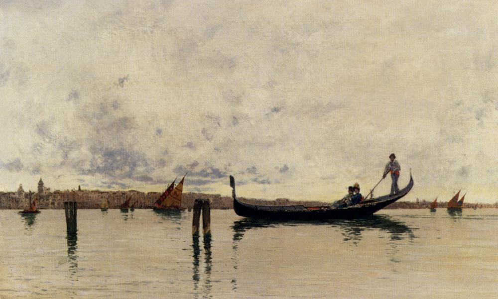 Along The Canal, Venice by Carlo Brancaccio- Italian  Painting
