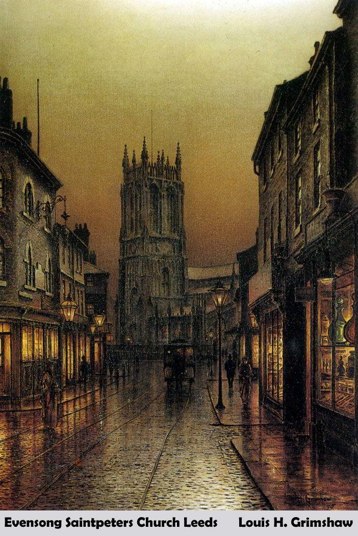 Evensong Saintpeters Church Leeds by Louis H. Grimshaw